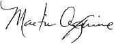 Signature of Martin Aguirre