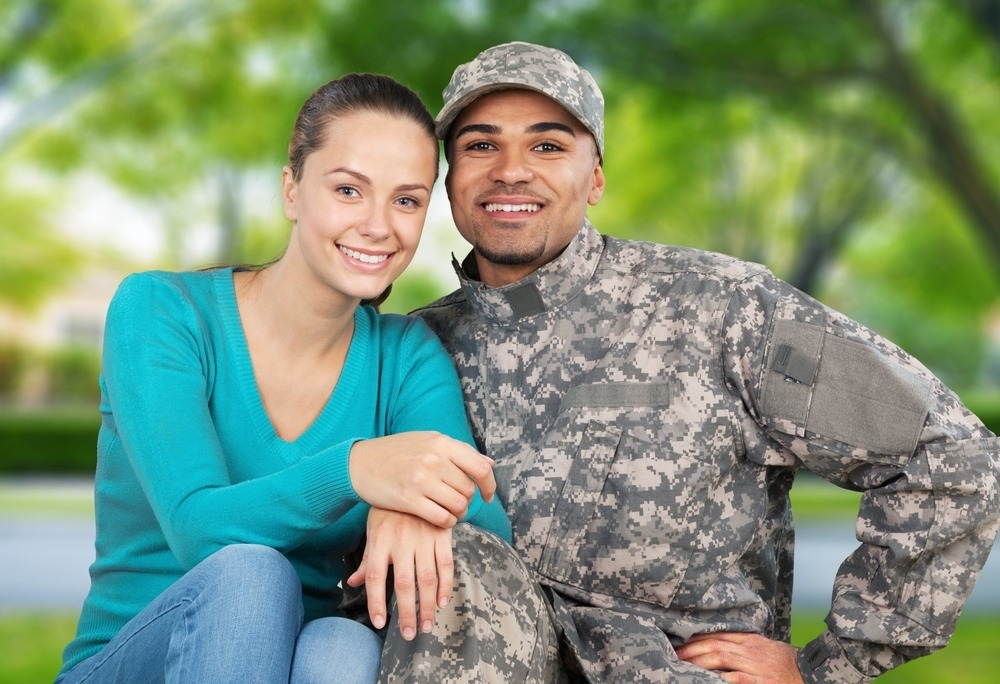 A young veteran with his spouse